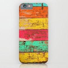 Vintage Colored Wood 3 Slim Case iPhone 6