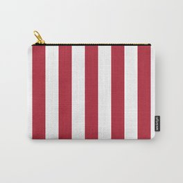 Strip. Red and white stripe. Carry-All Pouch