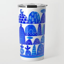 cairns in blues ... Travel Mug