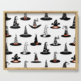 Halloween- Witch hats on White Serving Tray