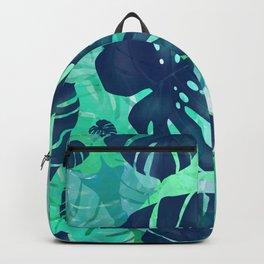monstera leaves tropical 2 Backpack