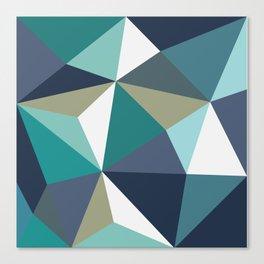 trigon blue Canvas Print