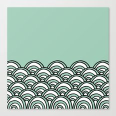Waves Mint Canvas Print