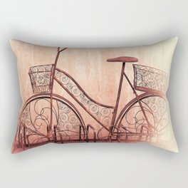 flower bycicle Rectangular Pillow