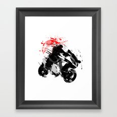 Ninja Motorcycle Framed Art Print