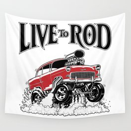 1955 CHEVY CLASSIC HOT ROD Wall Tapestry