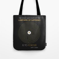 looking for alaska Tote Bags featuring Looking For Alaska by Dani Aviles