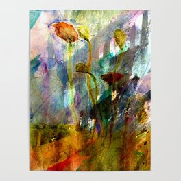 flowers on the field Poster