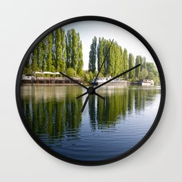 River Oise at Auvers. Wall Clock