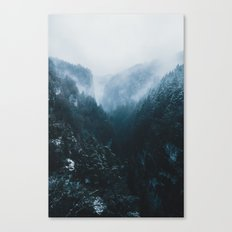 Foggy Forest Mountain Valley - Landscape Photography Canvas Print