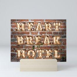 Heart Break Hotel - Brick Mini Art Print