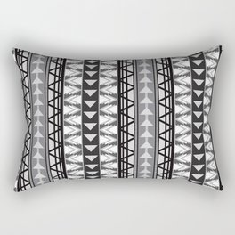 Triangle Kilim in Grayscale Rectangular Pillow
