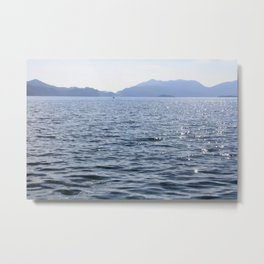 Mediterranean Blues At Sea Metal Print