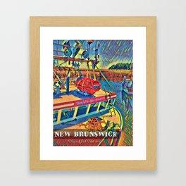 Bay of Fundy Fishing Boat at Dock Framed Art Print