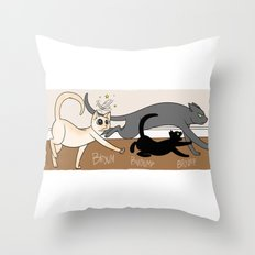 Furred Frenzy - Cat Rampage Throw Pillow