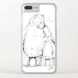 Thanks Poppa Bear Clear iPhone Case