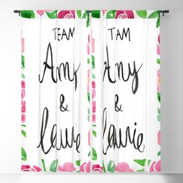 Team Amy x Laurie - Pink Palette Blackout Curtain