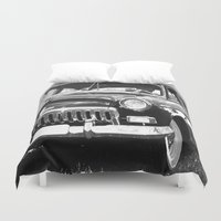 grand theft auto Duvet Covers featuring Black Auto by Regan's World