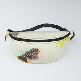 Black Eyed Susan and Her Pollinators Detail 2 TRIPPY Fanny Pack