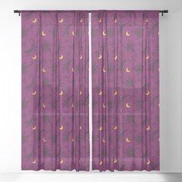 Scorpio Moon - Twilight Sheer Curtain