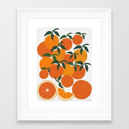 Orange Harvest - White Framed Art Print