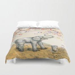 Elephant Bubble Dream Duvet Cover