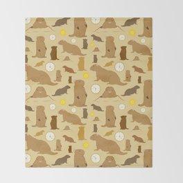Groundhogs Throw Blanket
