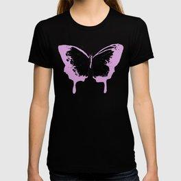 Black and pink butterflies T-shirt