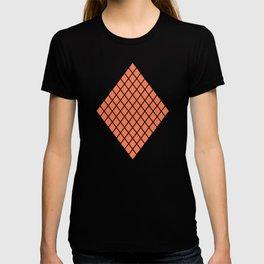 Geometric shape t-shirts & prints: Coral Diamond Rhombus (Rhom x Rhom) Multiple colours available... T-shirt
