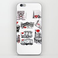 cities iPhone & iPod Skins featuring Cities 1  by sladja