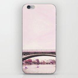 Pink mood at Triana Bridge iPhone Skin