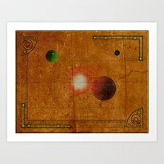 Space Map…and then you turn left 031 Art Print