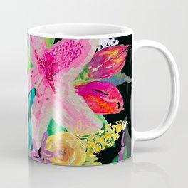 Neon Azeleas // Black Coffee Mug