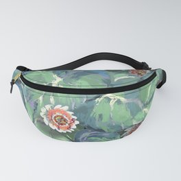 Tropical Leaves + Passion Flowers Fanny Pack