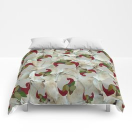 Double Apples White Mushrooms Comforters