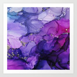 Violet Storm - Abstract Ink Art Print