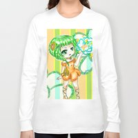 vocaloid Long Sleeve T-shirts featuring Gumi CHIBI FANART  by jannaj