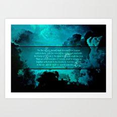 RETURN (1 Thessalonians 4:16-17) Art Print