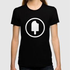 Fudgesicle! Womens Fitted Tee Black LARGE