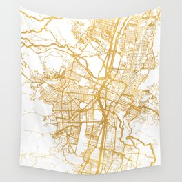 MEDELLÍN COLOMBIA CITY STREET MAP ART Wall Tapestry