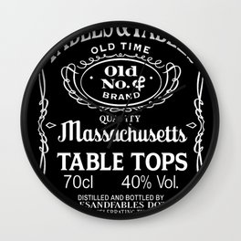 Massachusetts JD Table Tops Wall Clock