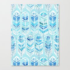 SEABIRD Blue Boho Feathers Canvas Print