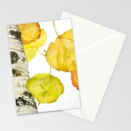 Falling Aspen Leaves Stationery Cards
