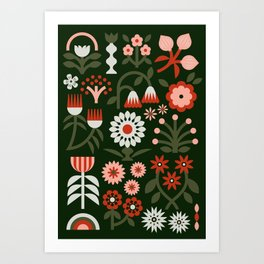 Winter Wrap: Green Art Print