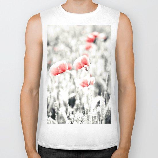 Poppy Poppies Mohn Mohnblume Flower Biker Tank