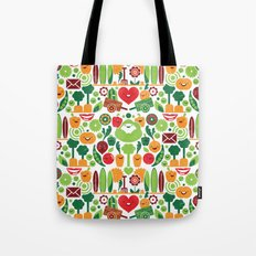 Vegetables tile pattern Tote Bag