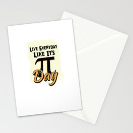 Live Everyday Like It´s Pi Day Math Teacher For Teachers Stationery Cards