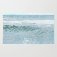 salt water Area & Throw Rugs featuring Salt Water for the Soul by Bella Blue Photography