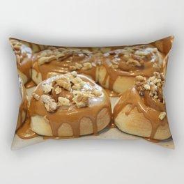 Homemade baking. Buns with caramel and walnuts. Rectangular Pillow