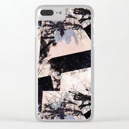 Beige et bois Clear iPhone Case